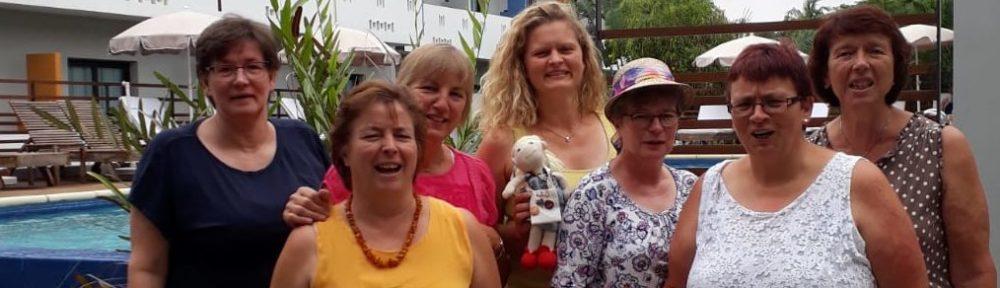 Mitglieder der KFD Gellenbeck und KFD Hagen auf der Reise mit Kaplan Coffi in seine Heimat Benin im Juli 2019.